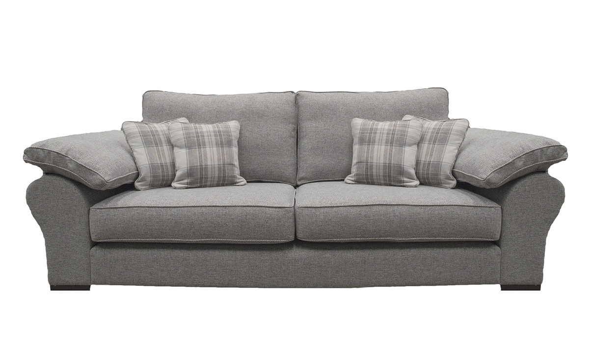 Atlas Large Sofa in Milwaukee Grey, Bronze Collection Fabric