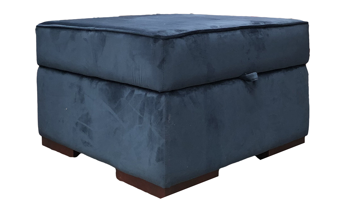 Atlas  Storage Footstool in Discontinued Fabric
