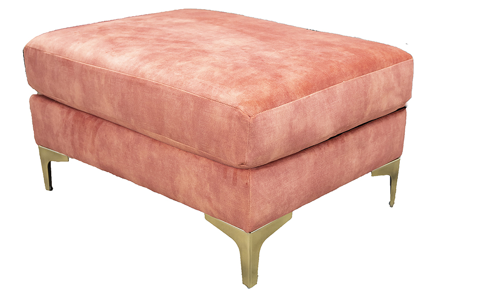 Baltimore Island in Lovely Coral, Gold Collection Fabric