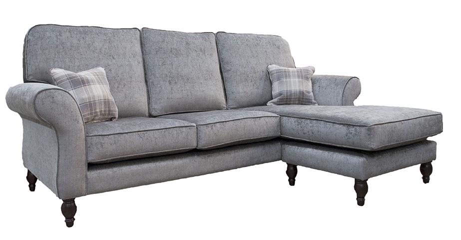 Aslan Chaise End - (Special Size) Back Cushions Raised - Side