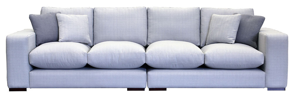 Colorado-4-Seater-Sofa-Special-Linetta-Silver-[Silver-Collection]