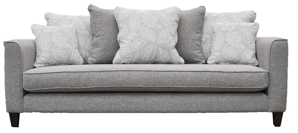 Elijah Large Sofa (Bespoke - Nolan Arms) - Milwaukee Grey - Bronze Collection