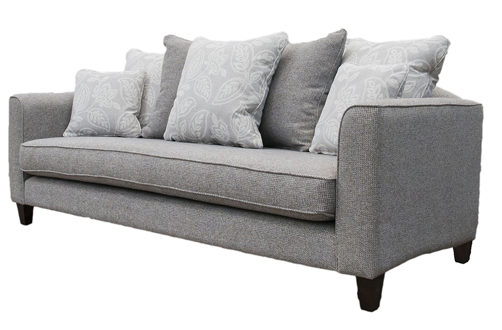 Elijah Large Sofa Side (Bespoke - Nolan Arms) - Milwaukee Grey - Bronze Collection