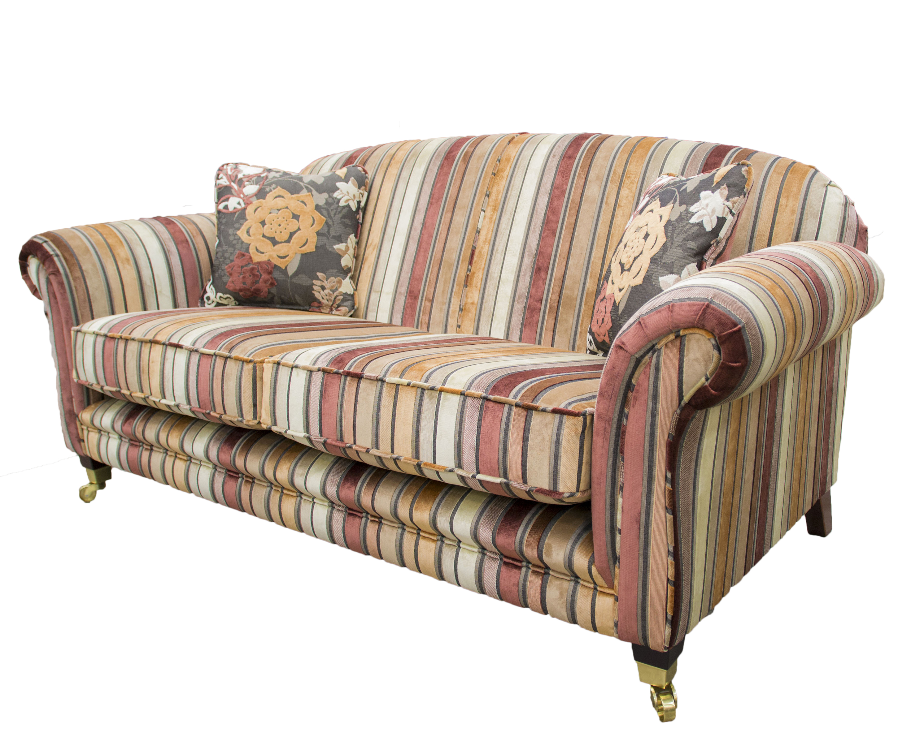 Elton Fixed Back Sofa – Alton – Texas Stripe Coffee : Cream – Platinum Collection1