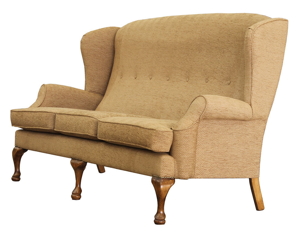 Queen Anne 3 Seater Side Profile {Bronze Collection}