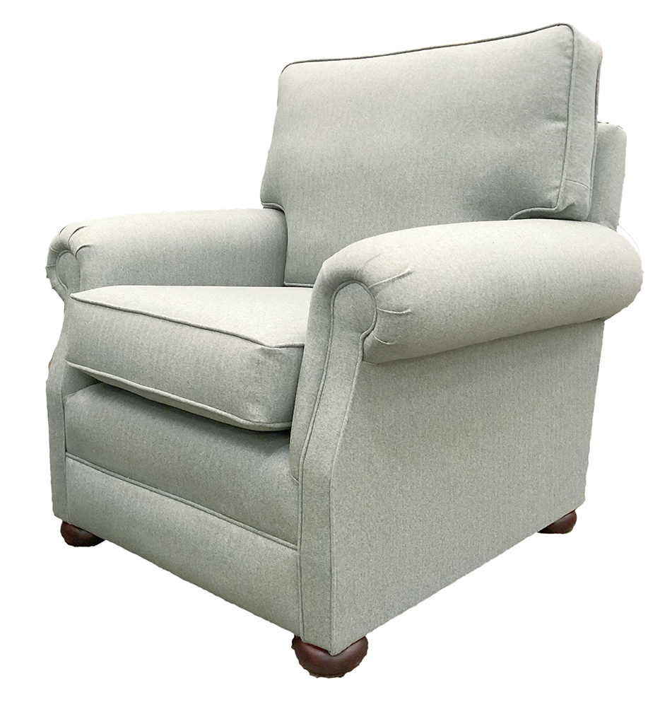 Blair Chair Side Tweed - Silver Collection