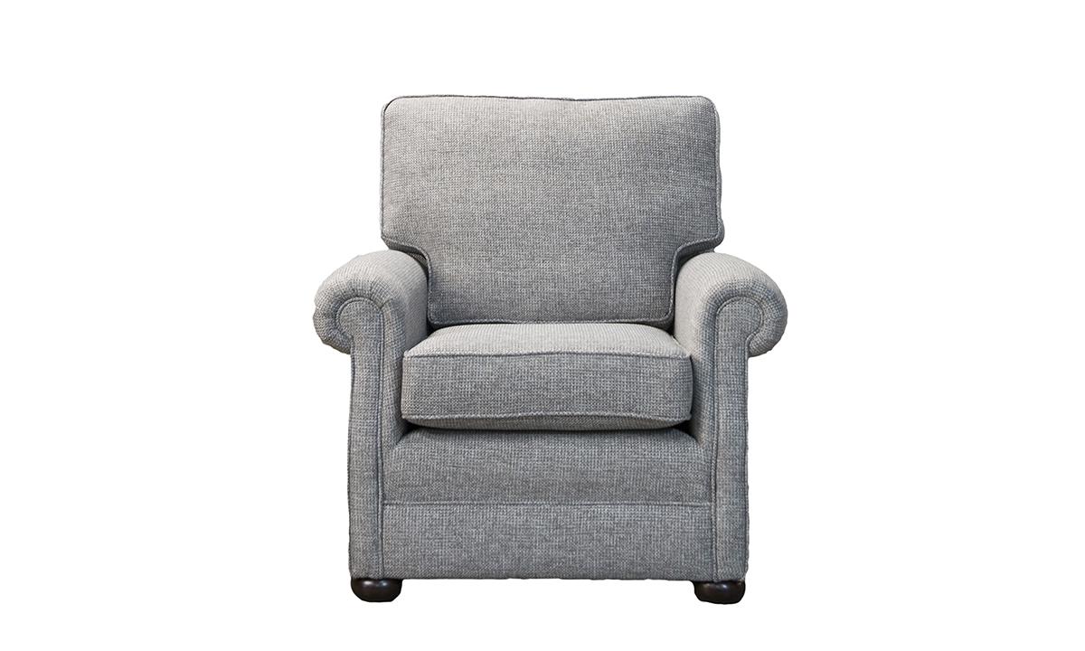 Blair Chair in Milwaukee Grey Bronze Collection of Fabrics.