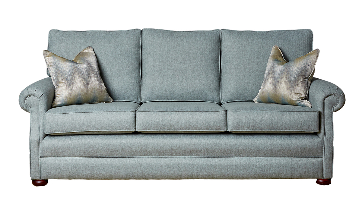 Blair Large Sofa in Tweed Duck Egg, Silver Collection Fabric