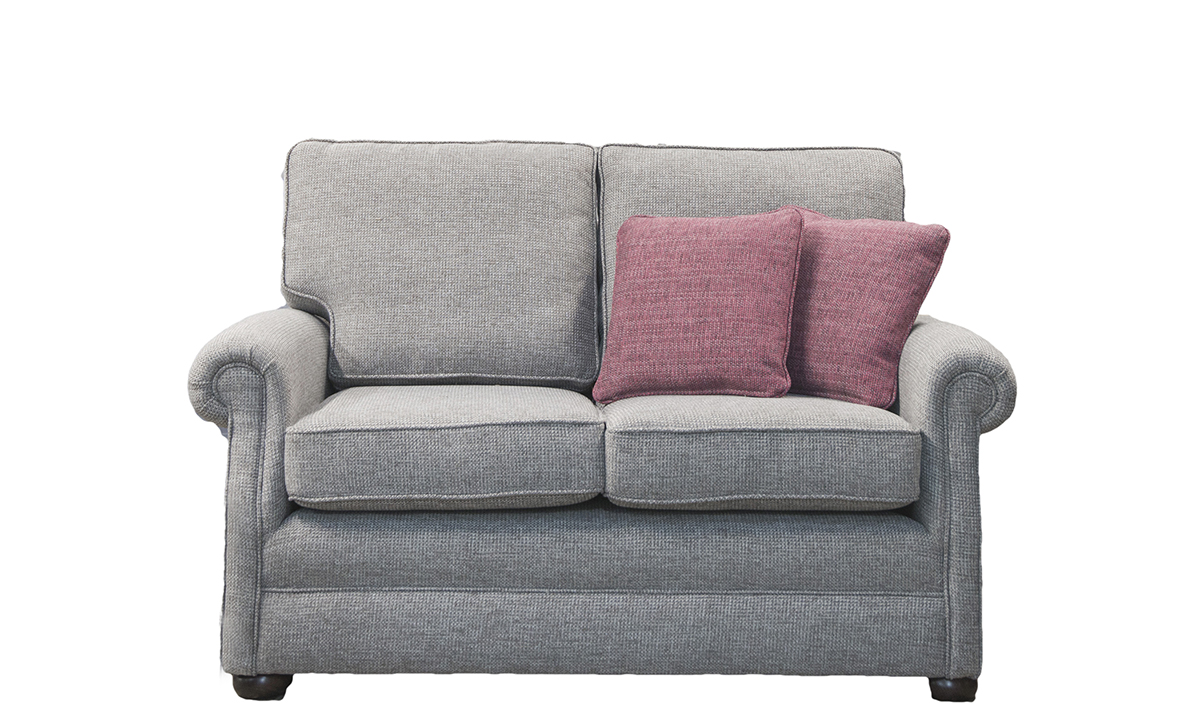 Blair Small Sofa in Milwaukee Grey Bronze Collection of Fabrics