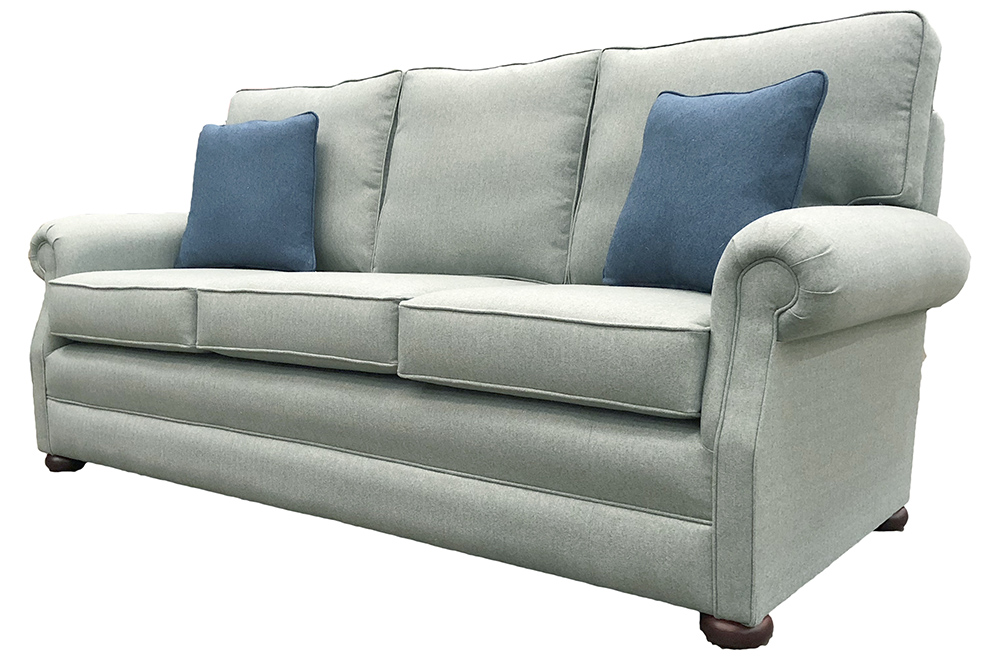 Blair Large Sofa Side   Tweed   Silver Collection