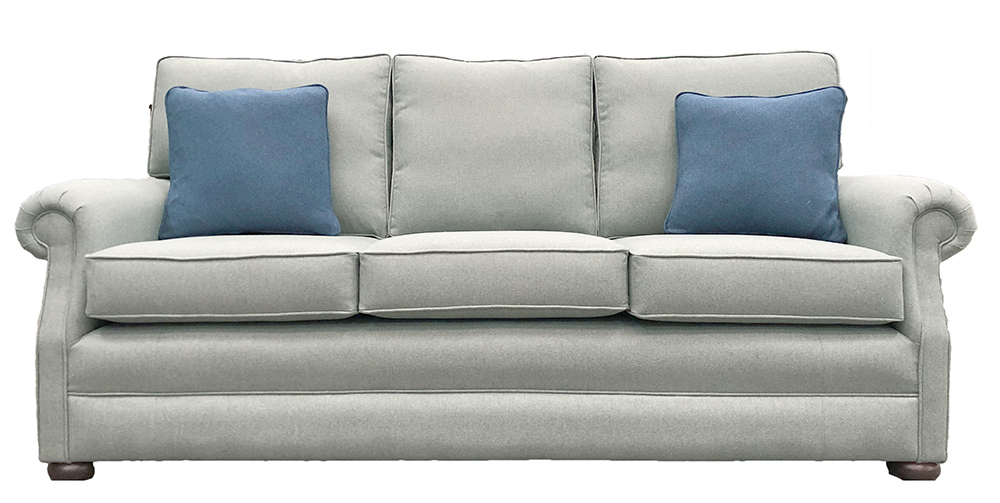 Blair Large Sofa - Tweed - Silver Collection