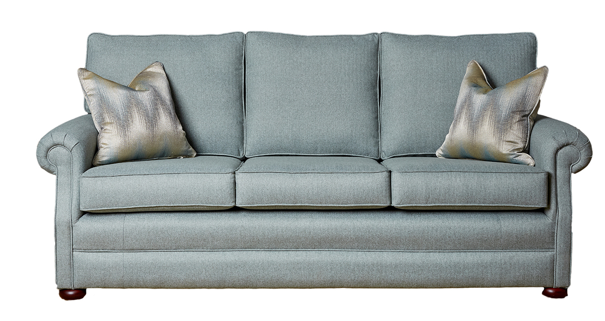 Blair Large Sofa in Tweed Duck Egg Silver Collection Fabric