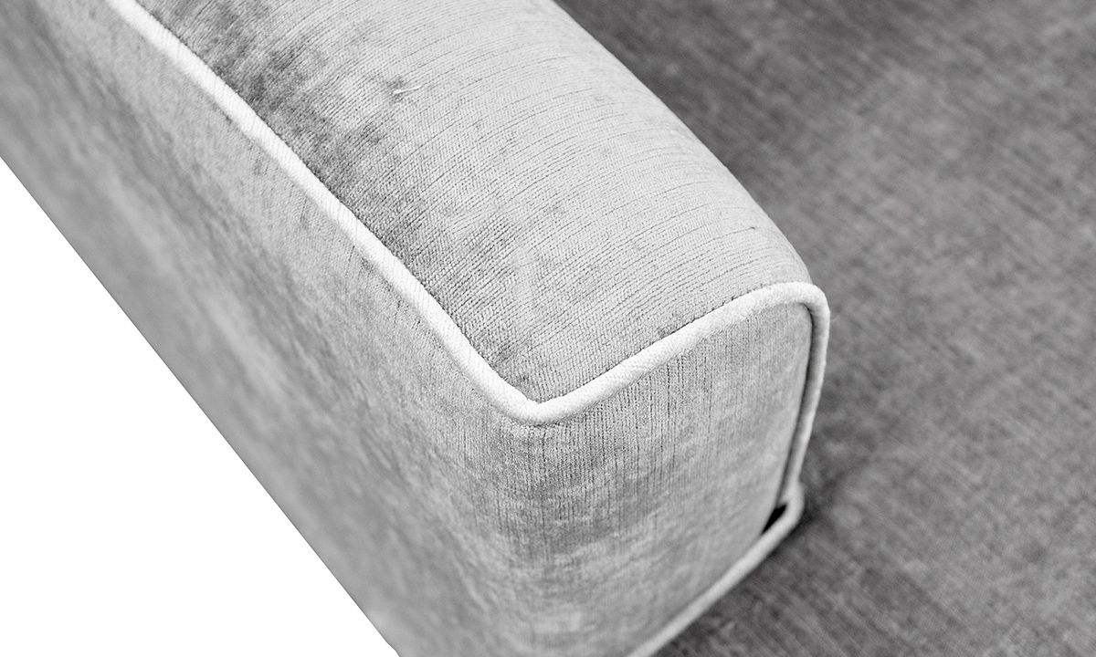 Boland Detail Arm in Edinburgh French Grey, Silver Collection Fabric