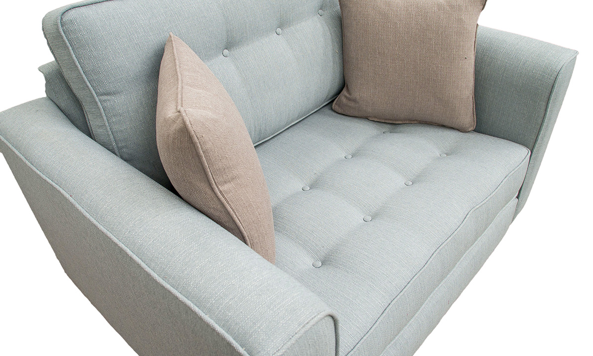 Bespoke Boland Love Seat Detail in Aosta Duck Egg
