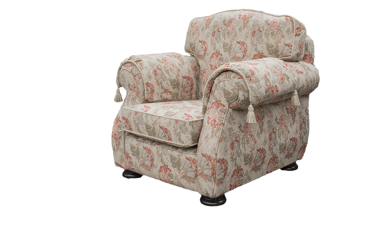 Cameo Chair in Nelson Pattern, Platinum Collection Fabric