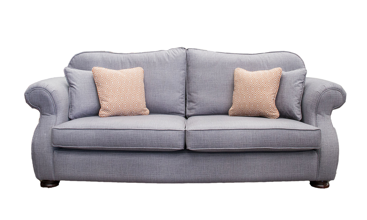 Cameo Sofa in Havana Steel, Silver Collection Fabric