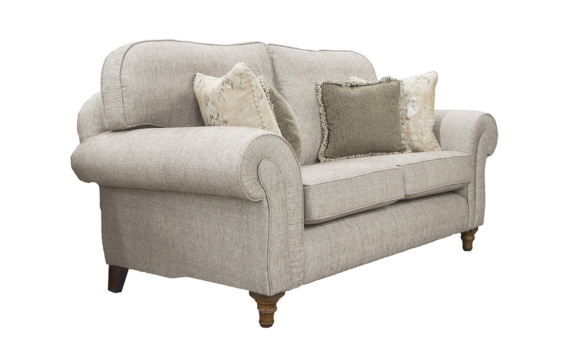 Capella Small Sofa in Spencer Nutmeg Silver Collection Fabric