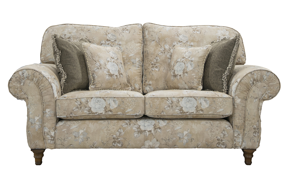Capella Small Sofa in Oasis Pattern Gold, Platinum Collection Fabric