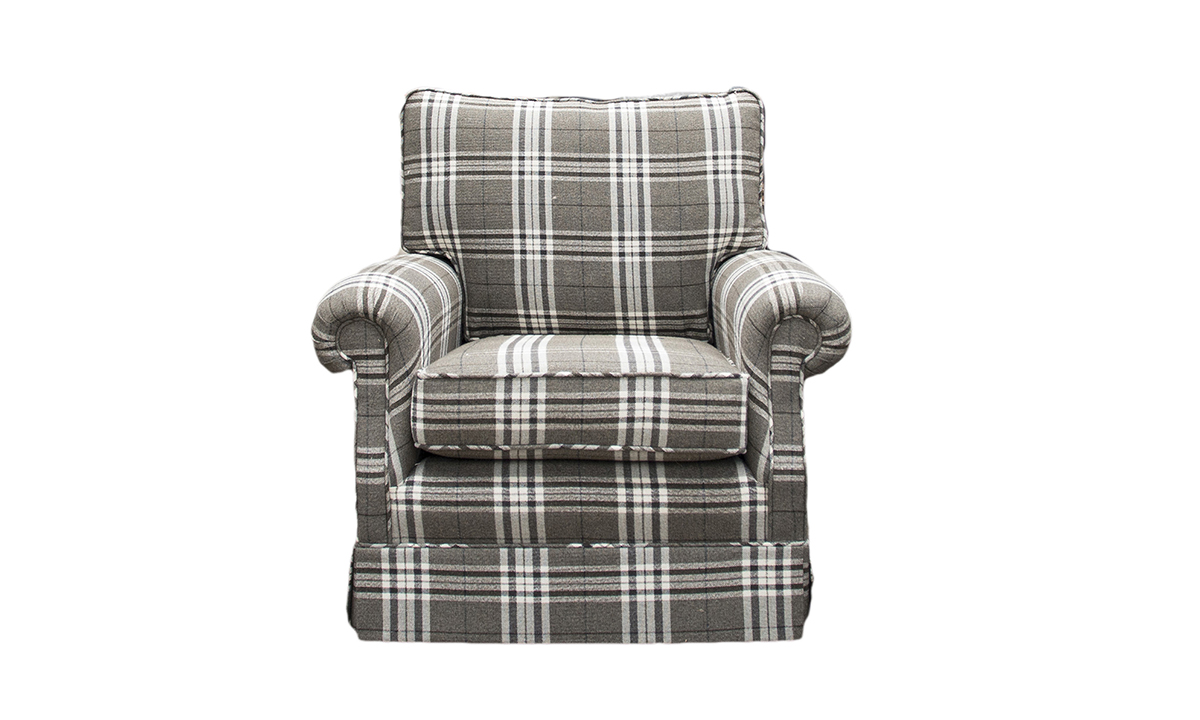 Claire Chair in Lough Lomond Ash, Silver Collection Fabric