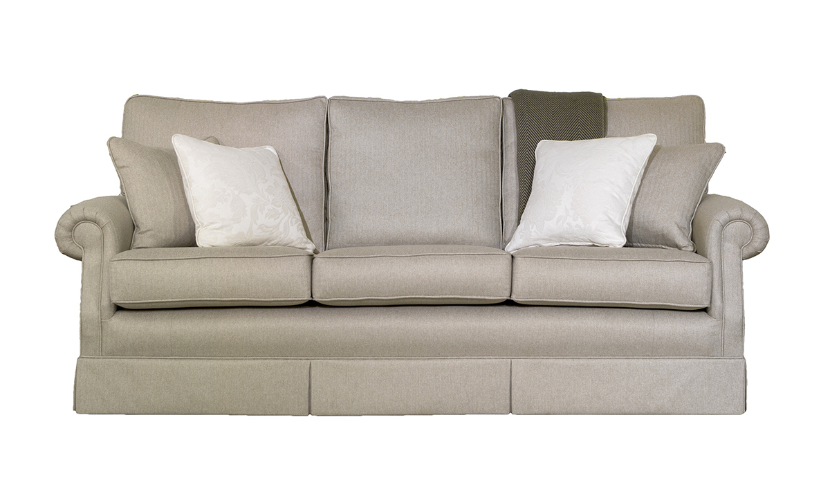 Clare Large Sofa in McKenzie , Silver Collection Fabric