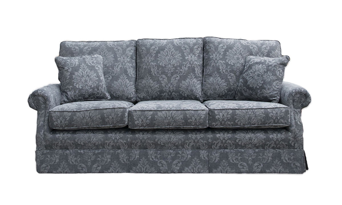 Clare Large Sofa in Dagano Pattern Noir , Bronze Collection Fabric
