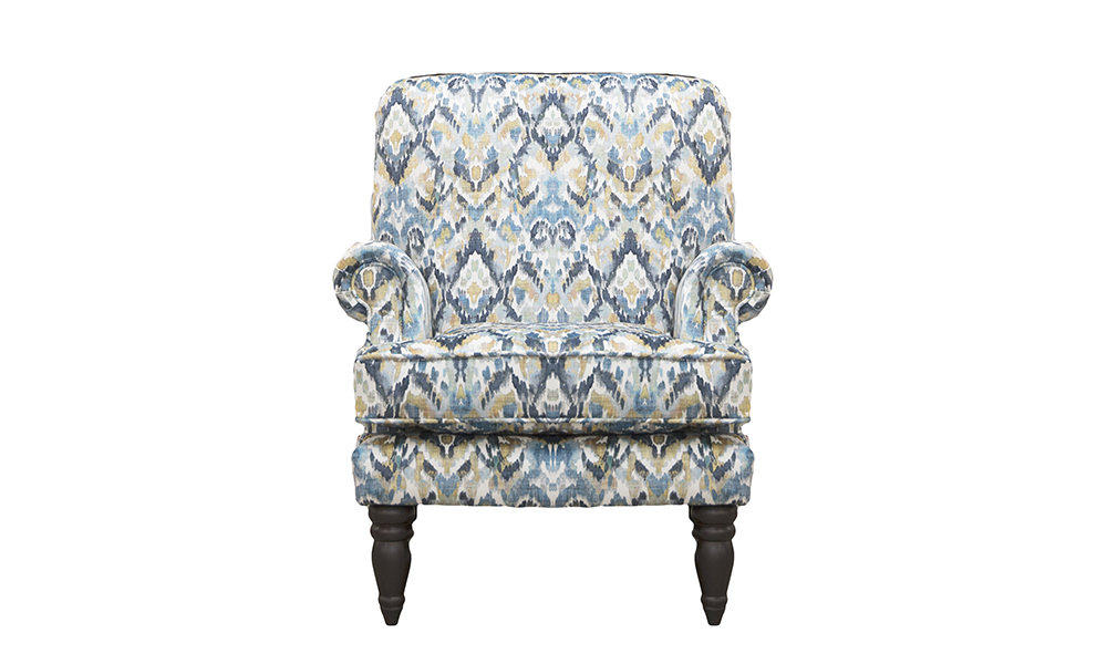 Cleary Chair in Monet Winter, Platinum Collection Fabric