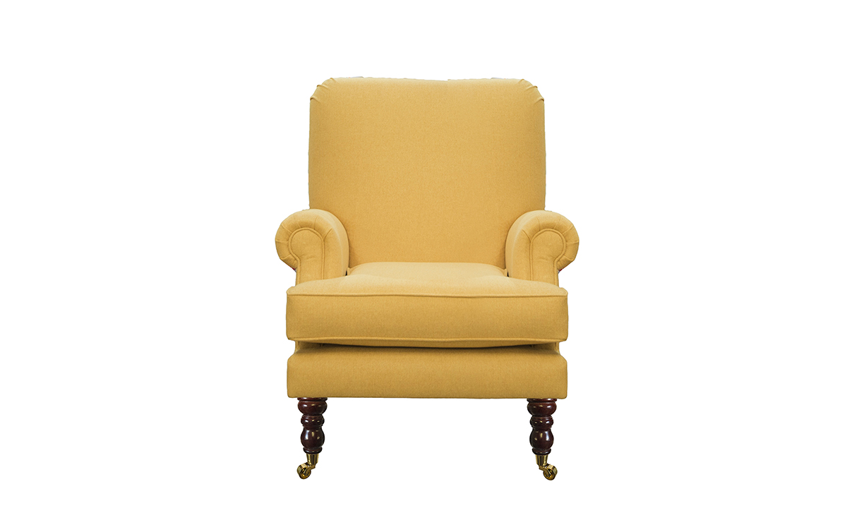 Cleary Chair in Soho Mustard Silver Collection of Fabrics