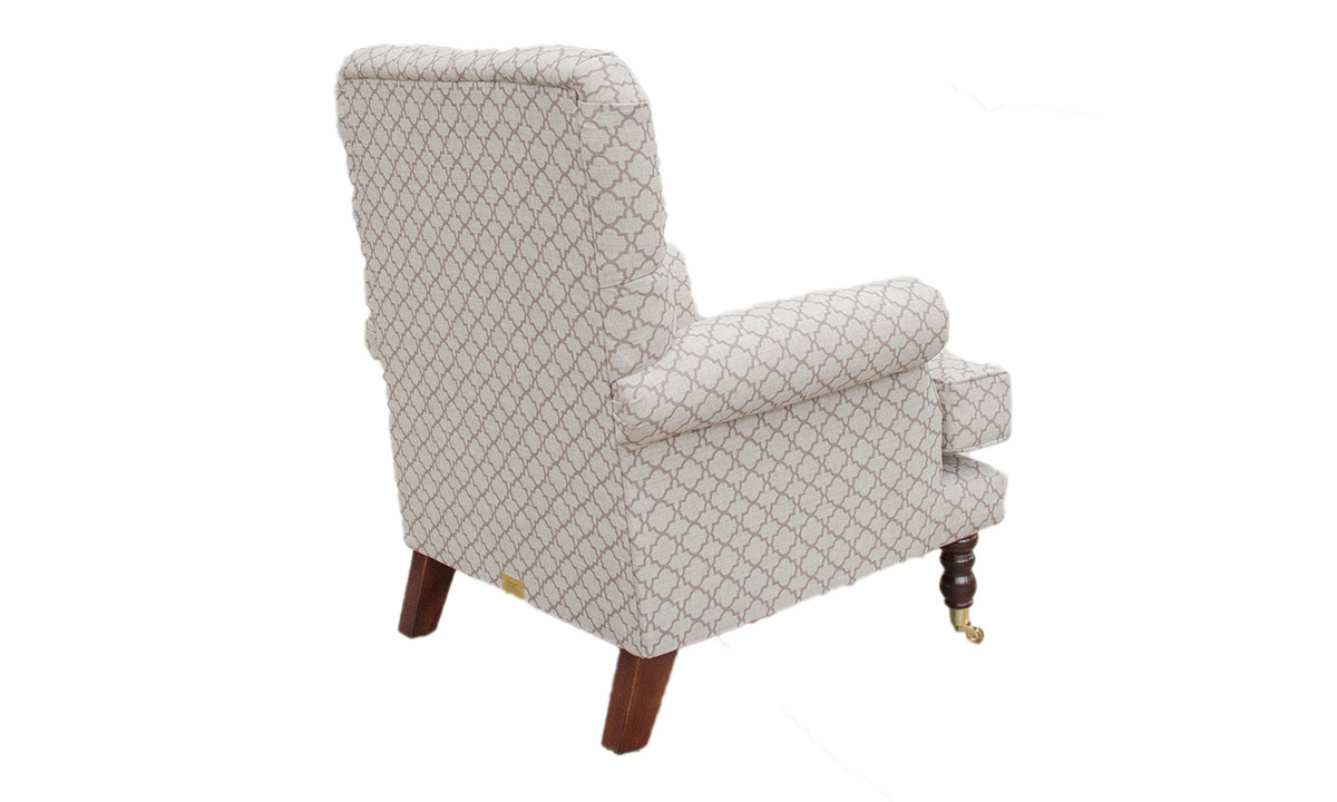 Deep Buttoned Cleary Chair Digital_Trellis - Silver collection back