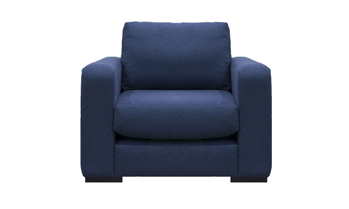 Collins Chair in  j.Brown McKenzie Indigo