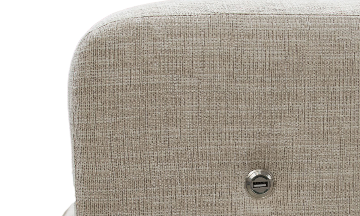 Collins Sofa - Bespoke USB Charing Port Close Up - Corrine Beige