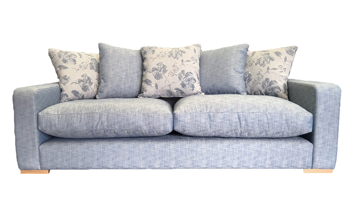 Collins Large Sofa with a Plowback in Varadi Nordic Blue