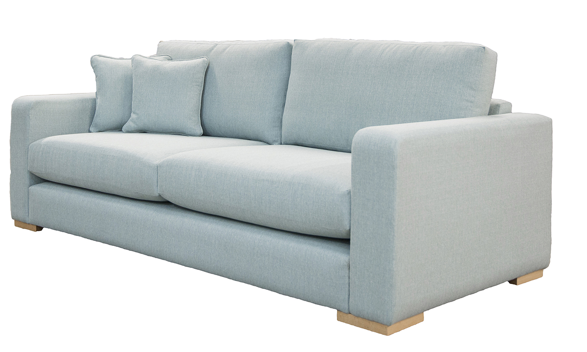 Collins Large Sofa Side in Aosta Duck Egg, Silver Collection Fabric