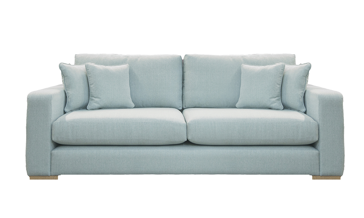 Collins Large Sofa in Aosta Duck Egg, Silver Collection Fabric