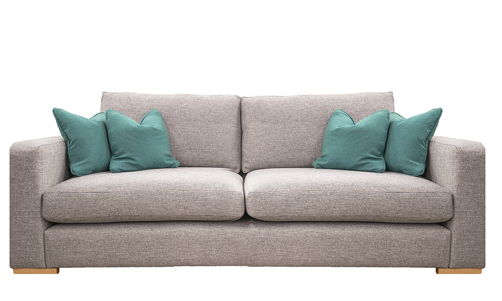 Collins Large Sofa in Milwaukee Grey, Bronze Collection of Fabrics