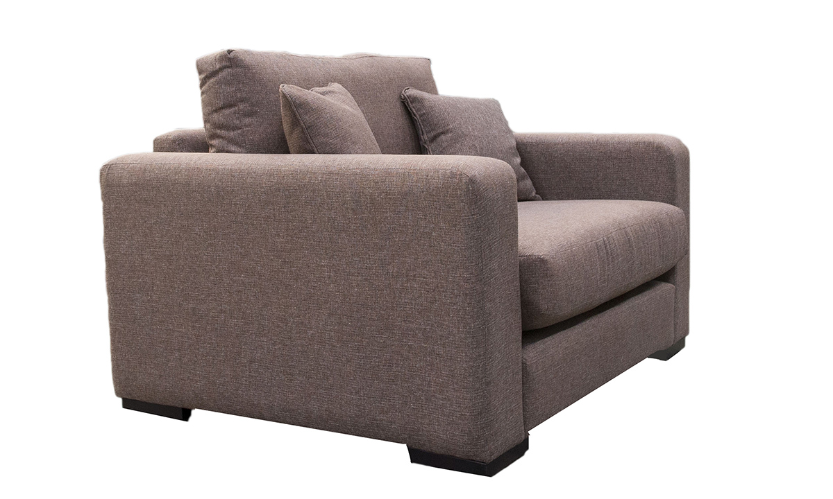 Collins Love Seat in Ado Chestnut, Bronze Collection Fabric