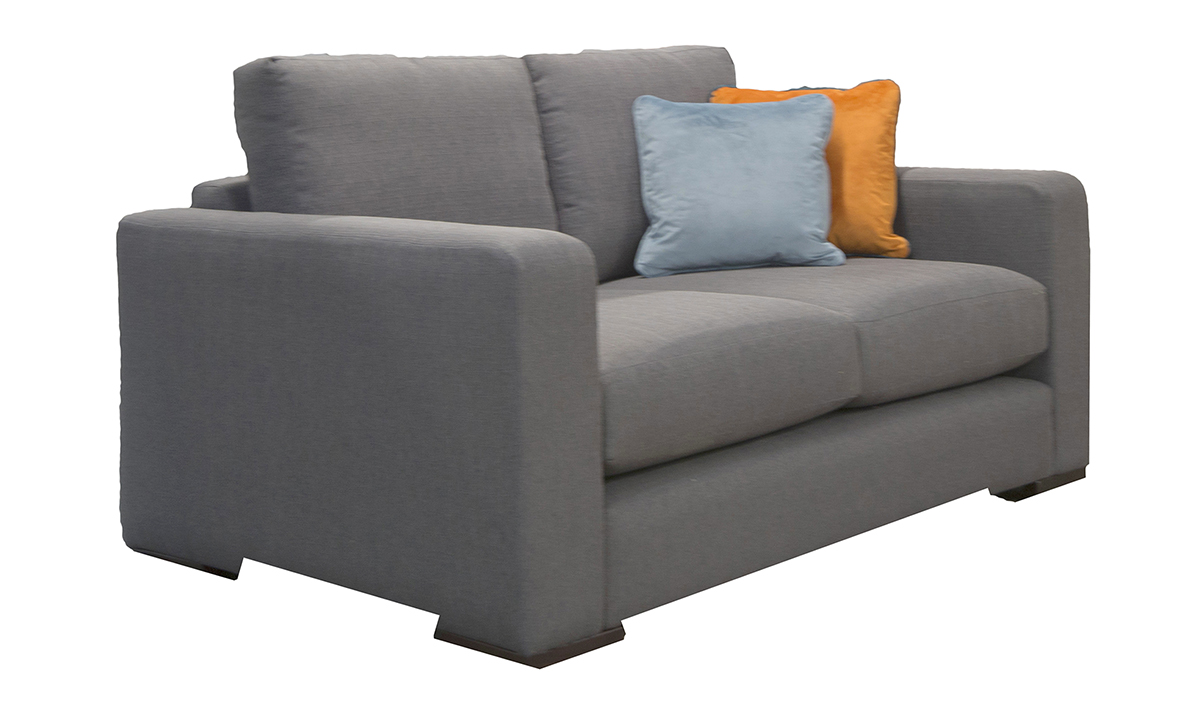 Collins Small Sofa Side in Aosta Charcoal, Silver Collection Fabric