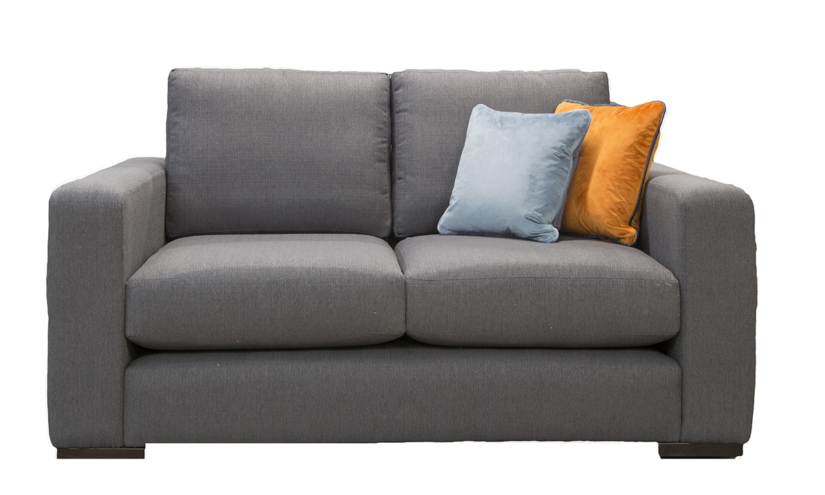Collins Small Sofa in Aosta Charcoal, Silver Collection Fabric