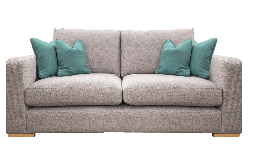 Collins Small Sofa in Milwaukee Grey, Bronze Collection of Fabrics
