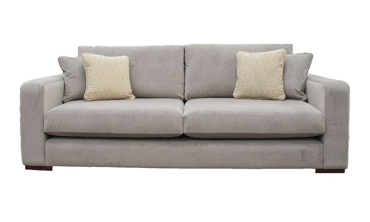 Collins Large Sofa in Luxor Dolphin, Silver Collection Fabric
