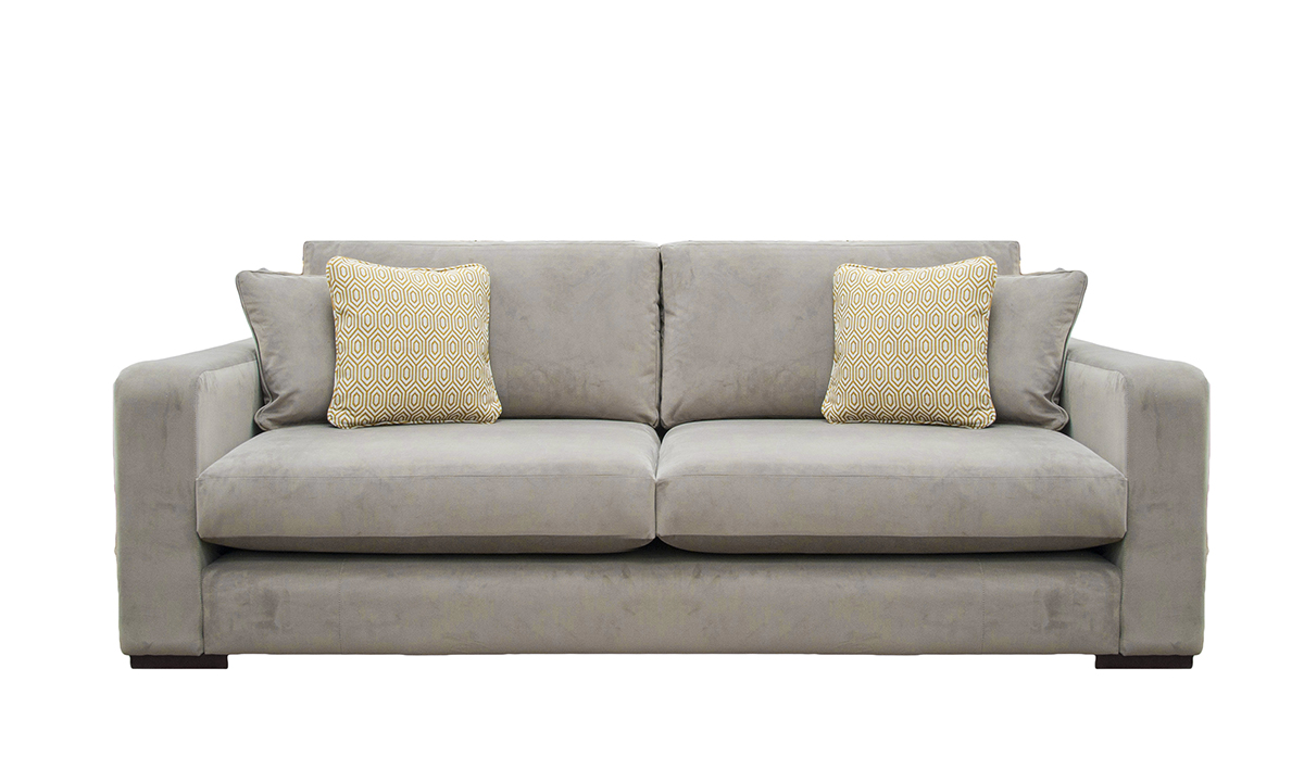 Collins Sofa in Luxor Dolphin, Silver Collection Fabric