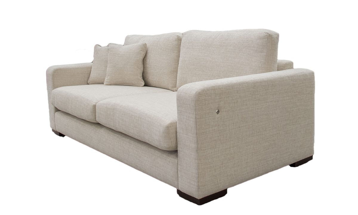 Bespoke Collins Sofa with a USB Charing Port in the arm in Corrine Beige