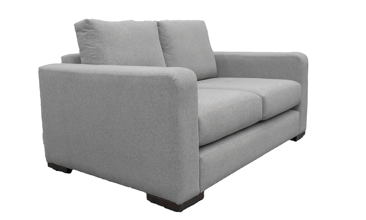 Collins Large Sofa in Shetland Pewter, Bronze Collection Fabric