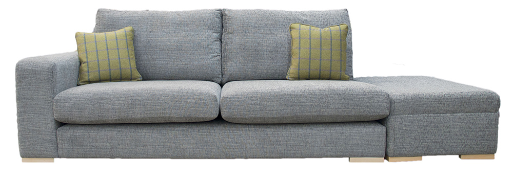 Collins Sofa with 1 Arm & Island - Corrine Charcoal
