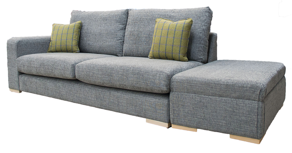 Collins Sofa with 1 Arm & Island Side - Corrine Charcoal