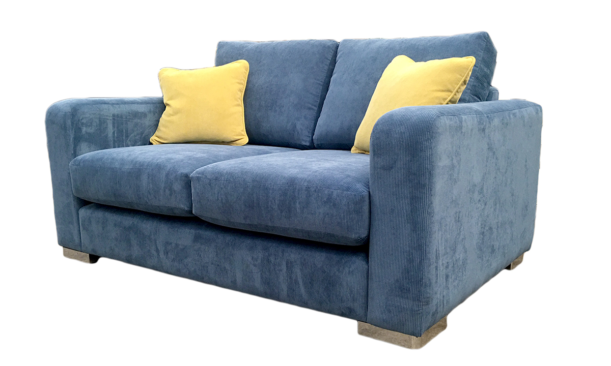 Collins Small Sofa in Sorrento Sky, Bronze Collection Fabric