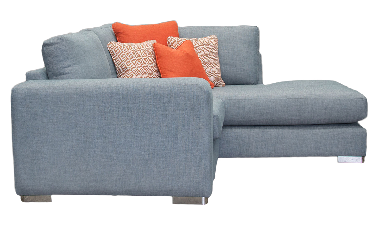 Bespoke Size Colorado Corner Chaise Sofa in Ross Lindale sr16918 Steel