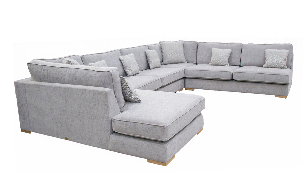 Colorado Corner Chaise Sofa in JBrown Madison Velvet Platinum Collection Fabric