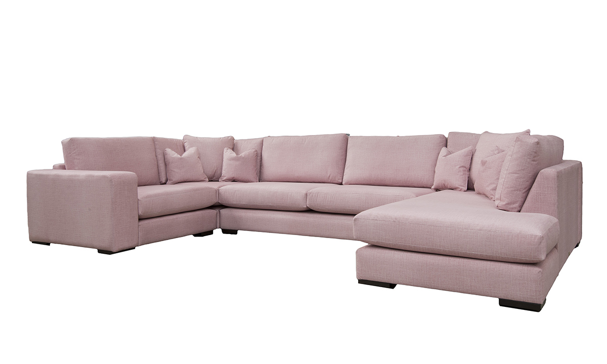 Colorado Corner Sofa Side in Havana Rose, Silver Collection Fabric
