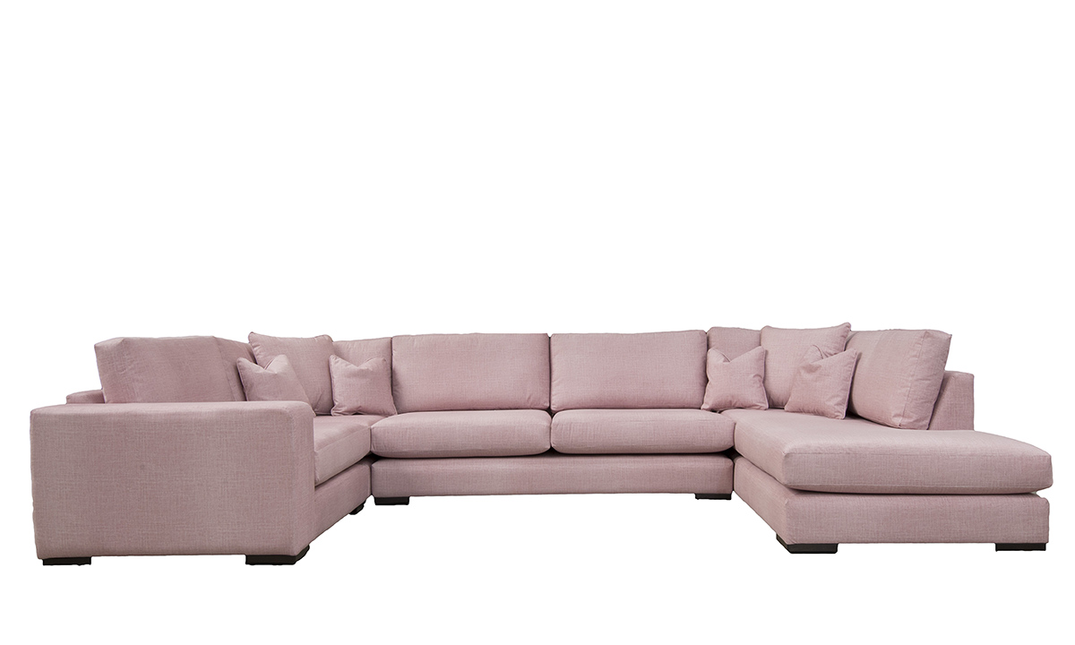 Colorado Corner Sofa in Havana Rose, Silver Collection Fabri