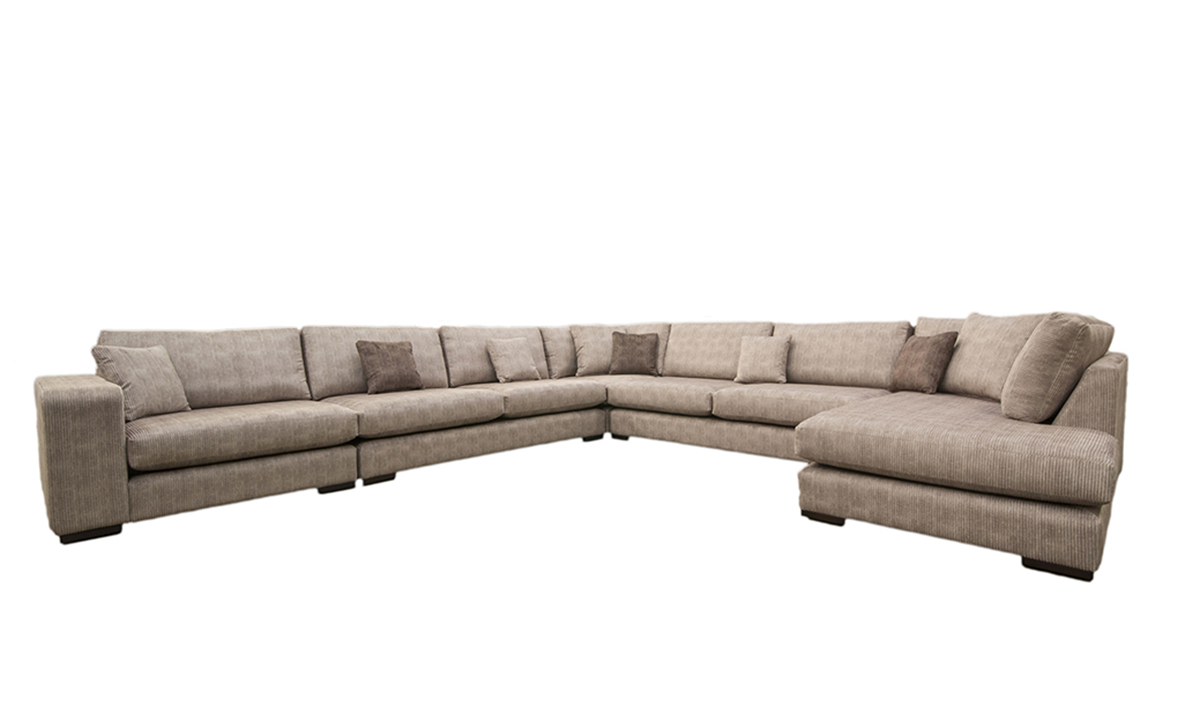 Bespoke Size Colorado Corner Chaise Sofa in Bronze Collection Fabric